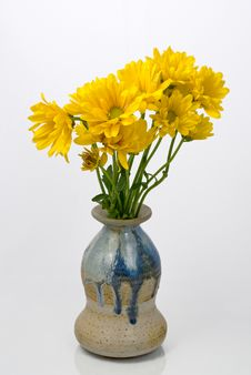 Free Yellow Flowers In A Vase Royalty Free Stock Photo - 24546275