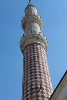Free The Minaret Of Uc Serefeli Mosque, Edirne. Stock Photography - 24546432