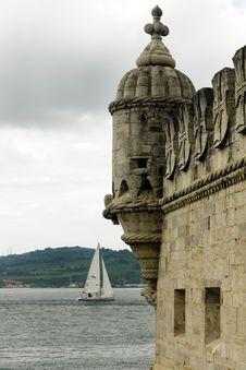 Torre De Belem Detail, Lisbon &x28;Portugal&x29; Royalty Free Stock Image