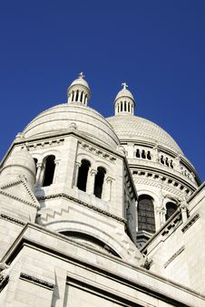 Free Sacre Coeur Basilica In Paris, France Royalty Free Stock Image - 24547426