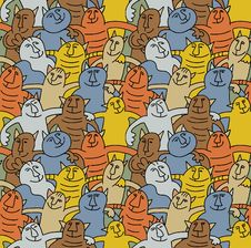 Free Cats Color Fun Seamless Pattern Stock Photo - 24547790