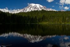 Free Reflections Lake Near Mount Rainier Royalty Free Stock Photo - 24547915