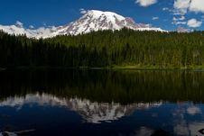 Reflections Lake Near Mount Rainier Royalty Free Stock Photo