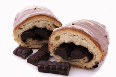 Free Choco Croissant Royalty Free Stock Photography - 24548397