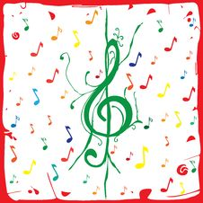 Free Musical Background Paper Stock Images - 24548964