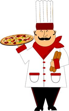 Free Master Pizza Chef Royalty Free Stock Photos - 24549148