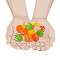 Free Hand Jellybeans Offering Stock Images - 24554244