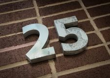 Free Number Twenty Five Stock Images - 24551374