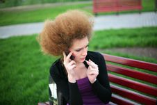 Free Girl Talking On The Phone Stock Photography - 24555182