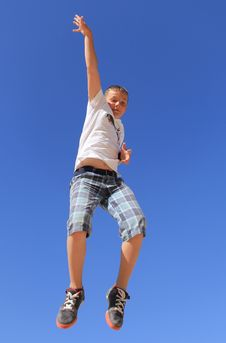 Free Boy Jumping Royalty Free Stock Photography - 24555907