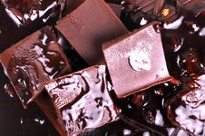 Free Chocolate Background Royalty Free Stock Photos - 24557128