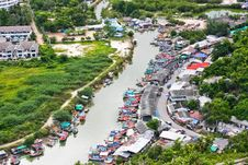 Fishing Village In Thailand Stock Photo