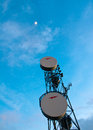 Free Communications Tower Rising To The Stars Stock Photos - 24566663