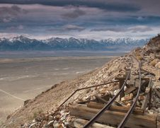 Free Abandoned Mine Tracks With A View Stock Images - 24566604