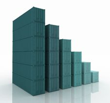 Free Diagram Of Increasing Exportation Royalty Free Stock Photos - 24568048