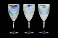 Free Psychedelic Wine Glasses Royalty Free Stock Photo - 24569065