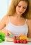 Free Housewife Preparing Dinner Vegetable Salad Royalty Free Stock Image - 24567876