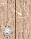 Free Wooden Card With Devoted Dog Royalty Free Stock Photos - 24573778