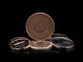 Free Coins Of GDR &x28;DDR&x29; And The European Union. Royalty Free Stock Image - 24577396