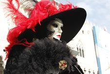 Portrait Of Mask Of Woman Venice Stock Photo