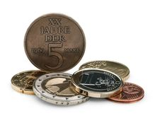 Free Coins Of GDR &x28;DDR&x29; And The European Union. Stock Photos - 24577453