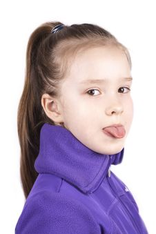 Free Little Pretty Girl With Her Tongue Out Stock Photo - 24578500