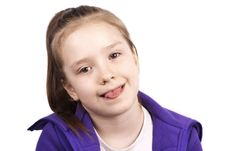 Free Little Funny Girl With Her Tongue Out Royalty Free Stock Photo - 24578585
