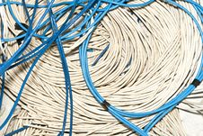 Free Blue And White Cable Royalty Free Stock Photography - 24578637