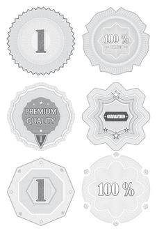 Premium Quality Labels With Retro Design . Royalty Free Stock Images