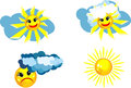 Free Set Of Suns Royalty Free Stock Photos - 24581328
