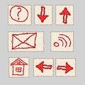 Free Hand Drawn Icons Stock Image - 24584721