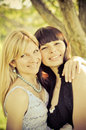 Free Two Beautiful Sisters Royalty Free Stock Photography - 24586287