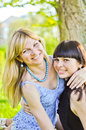 Free Two Beautiful Sisters Royalty Free Stock Photo - 24586335
