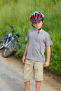 Free Portrait Of Boy Bicyclist With Helmet Stock Photography - 24589522