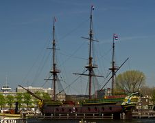 Free A Replica Of The VOC Ship Amsterdam Royalty Free Stock Photography - 24580777