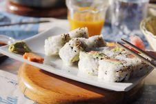 Free Sushi - California Rolls Stock Image - 24581311