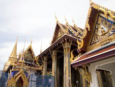 Emerald Buddha Temple In Progress Royalty Free Stock Images