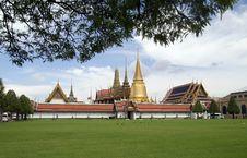 Free Temple Of The Emerald Buddha, Bangkok Thailand. Royalty Free Stock Photography - 24585767