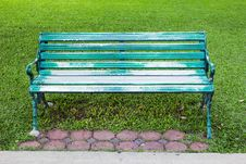 Free Bench Green Park Royalty Free Stock Photo - 24587825