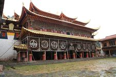 Tibetan Langmu Temple Of China Stock Image