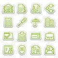 Free Banking Web Icons.  Sticker Series. Royalty Free Stock Image - 24590426