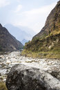 Free Riverbed In Himalaya Mountains Royalty Free Stock Photo - 24597635