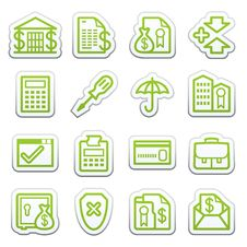 Free Banking Web Icons.  Sticker Series. Royalty Free Stock Image - 24590426