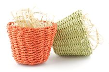 Free Two Little Flower Pots Stock Photo - 24590840