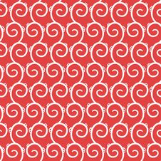 Free Vector Seamless Pattern With Swirls Stock Photos - 24590953