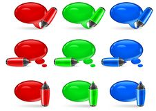 Speech Bubbles & Marker Stock Images