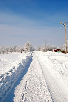 Free Winter Road Stock Photography - 24592622