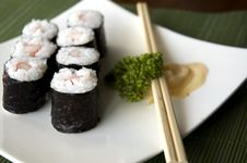 Free Close Up Sushi Set Royalty Free Stock Photos - 24592698