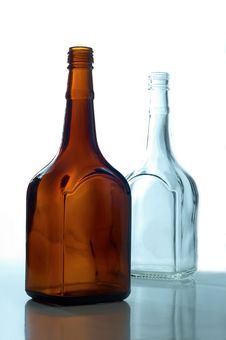 Free Two Empty Bottles Stock Photo - 24595380