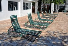 Free Green Pool Chairs Royalty Free Stock Images - 24597509